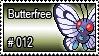 012 - Butterfree by PokeStampsDex