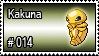 014 - Kakuna by PokeStampsDex