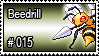 015 - Beedrill by PokeStampsDex