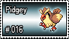 016 - Pidgey by PokeStampsDex