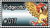 017 - Pidgeotto by PokeStampsDex