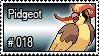 018 - Pidgeot by PokeStampsDex