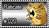 020 - Raticate by PokeStampsDex