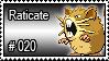020 - Raticate by PokeStampsDex