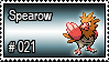 021 - Spearow by PokeStampsDex