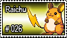 026 - Raichu by PokeStampsDex