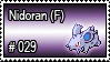 029 - Nidoran Female by PokeStampsDex