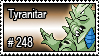 248 - Tyranitar by PokeStampsDex