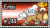 244 - Entei by PokeStampsDex