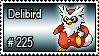 225 - Delibird by PokeStampsDex