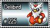 225 - Delibird by PokeStampsDex