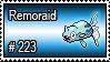 223 - Remoraid by PokeStampsDex