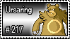 217 - Ursaring by PokeStampsDex