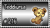 216 - Teddiursa by PokeStampsDex