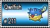 211 - Qwilfish by PokeStampsDex