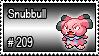 209 - Snubbull by PokeStampsDex