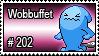 202 - Wobbuffet by PokeStampsDex