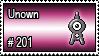 201 - Unown by PokeStampsDex
