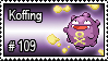109 - Koffing by PokeStampsDex