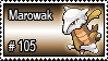 105 - Marowak by PokeStampsDex