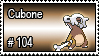 104 - Cubone by PokeStampsDex