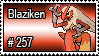257 - Blaziken by PokeStampsDex
