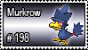 198 - Murkrow by PokeStampsDex