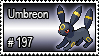 197 - Umbreon by PokeStampsDex