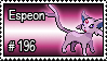 196 - Espeon by PokeStampsDex