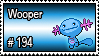 194 - Wooper by PokeStampsDex