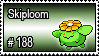 188 - Skiploom by PokeStampsDex