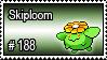 188 - Skiploom by PokeStampsDex