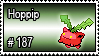 187 - Hoppip by PokeStampsDex
