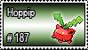 187 - Hoppip by PokeStampsDex