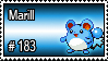183 - Marill by PokeStampsDex