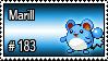183 - Marill by PokeStampsDex