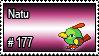 177 - Natu by PokeStampsDex