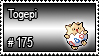175 - Togepi by PokeStampsDex