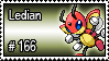 166 - Ledian by PokeStampsDex