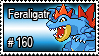 160 - Feraligatr by PokeStampsDex
