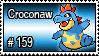 159 - Croconaw by PokeStampsDex
