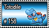 158 - Totodile by PokeStampsDex
