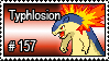 157 - Typhlosion by PokeStampsDex