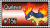 156 - Quilava by PokeStampsDex