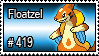 419 - Floatzel by PokeStampsDex