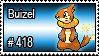 418 - Buizel by PokeStampsDex