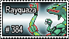 384 - Rayquaza by PokeStampsDex