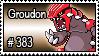 383 - Groudon by PokeStampsDex