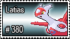 380 - Latias by PokeStampsDex