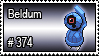 374 - Beldum by PokeStampsDex